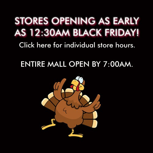 Black Friday and Holiday hours/closures Holiday and Black Friday hours information is not available for Holyoke Mall. For more information please call the customer line.