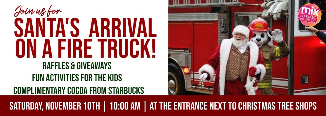 Santa Claus Is Coming To Holyoke Mall!