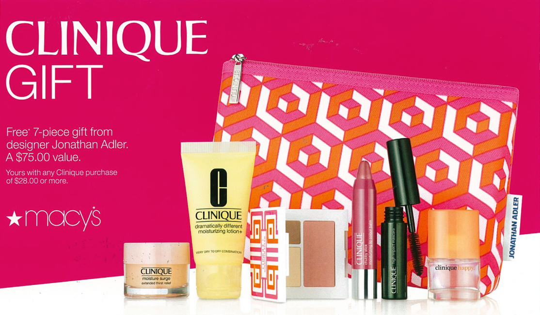 clinique s free 7 piece gift at macy s holyoke mall