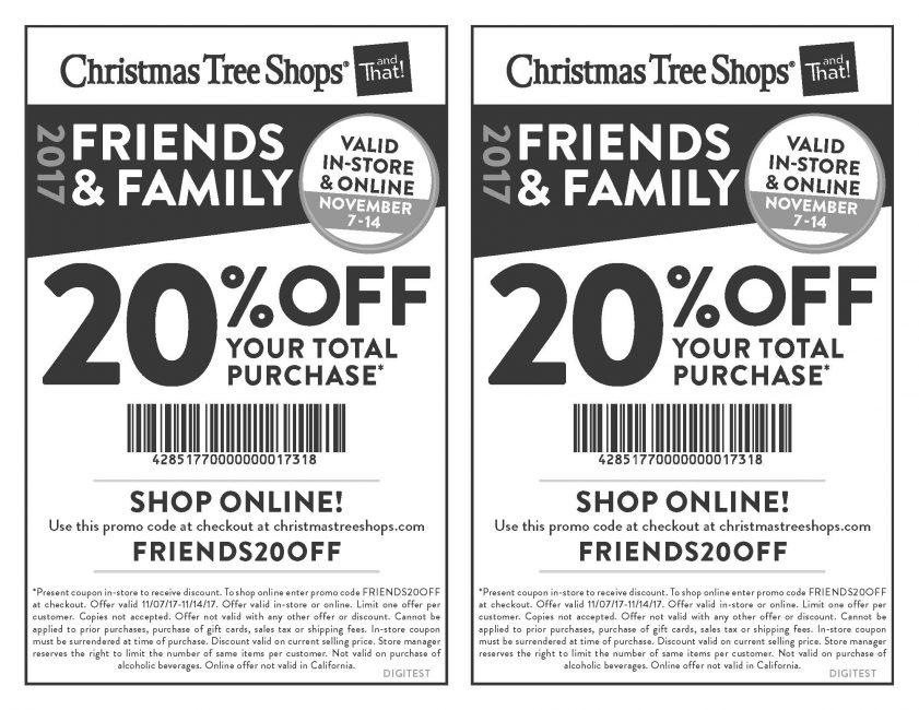 Holyoke Mall - Christmas Tree Shops' Friends & Family Sale! - Holyoke Mall