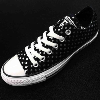 Keep your look on point with the awesome new Chuck Taylor All Star Lo Dots  Sneaker from Converse! These crazy-cool Chucks rock a low-top design  constructed ... 0d073df2f
