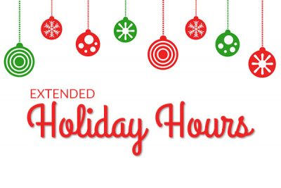Extended Holiday Hours Secondary Image