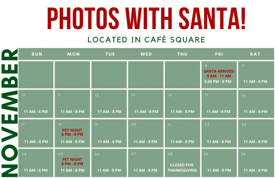 Santa Hours November 2019