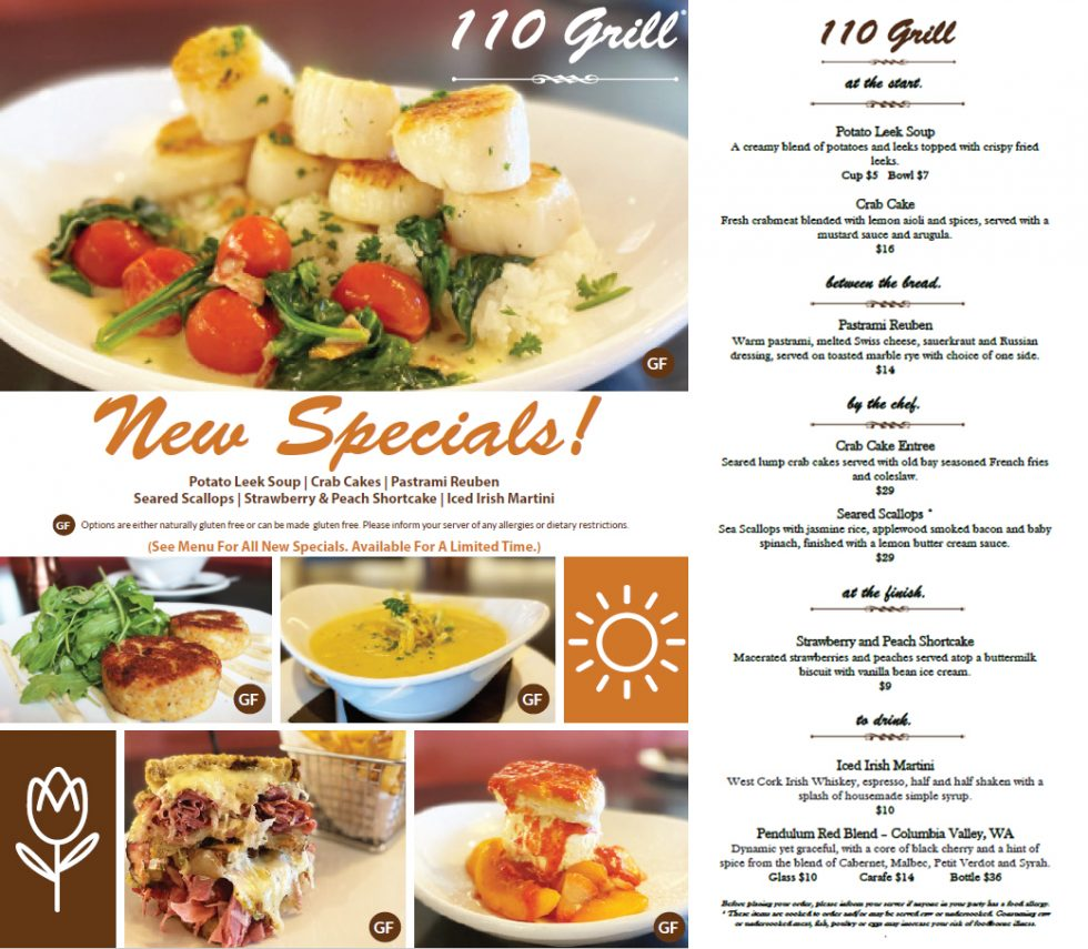110 Grill March Specials