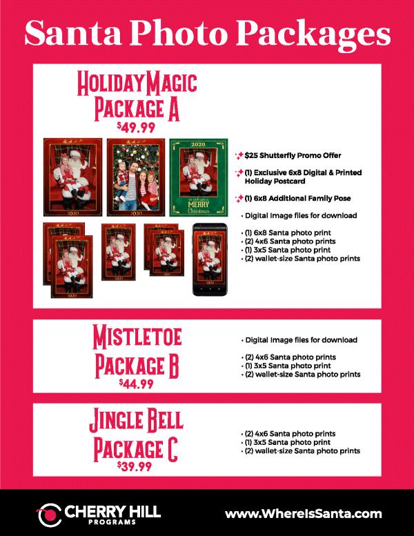 Santa Photo Packages