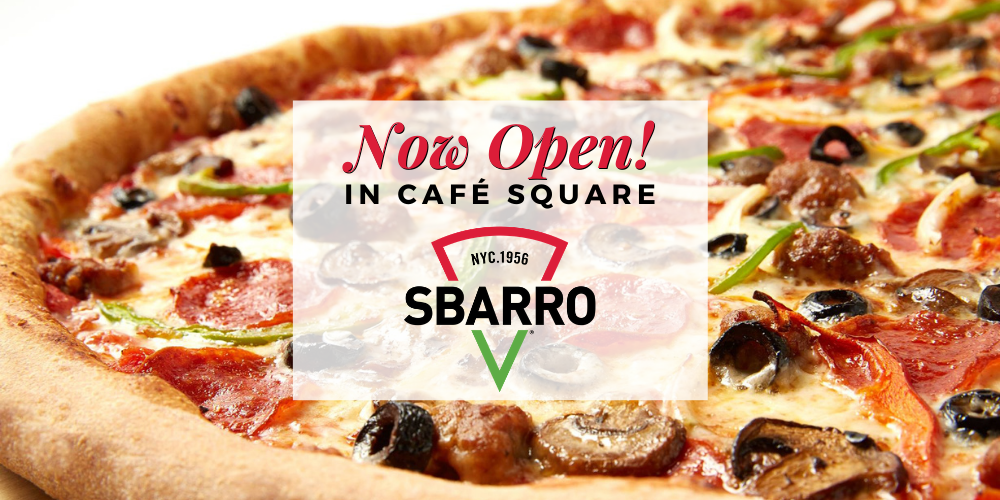 Now Open Website Banner Ad Sbarro